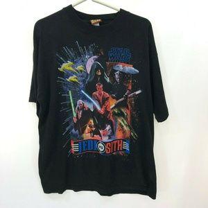 STAR WARS Phantom Menace L Large T-shirt Vintage